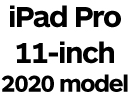 iPad Pro 11-inch 2020 with Face ID