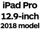 iPad Pro 12.9-inch 2018 with Face ID