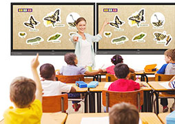 Classroom with display