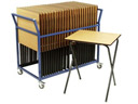 EF0213 Exam Desk Trolley Pack with 25 Folding Exam Desks