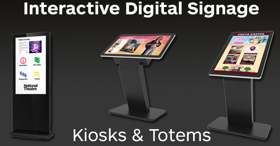 Interactive Digital Signage Totems and Kiosks