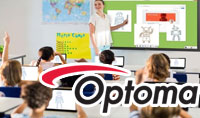 Optoma Interactive Flat Panel in a classroom