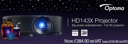 Banner for Optoma HD143X Projector - Big Screen Entertainment Full HD Projector