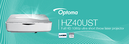 Banner for Optoma HZ40UST Projector - Full HD 1080p Ultra Short Throw Laser Projector