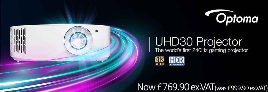 Banner for Optoma UHD30 Projector - The World's First 240Hz Gaming Projector
