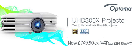 Banner for Optoma UHD300X Projector - True to Life Detail 4K Ultra HD Projector