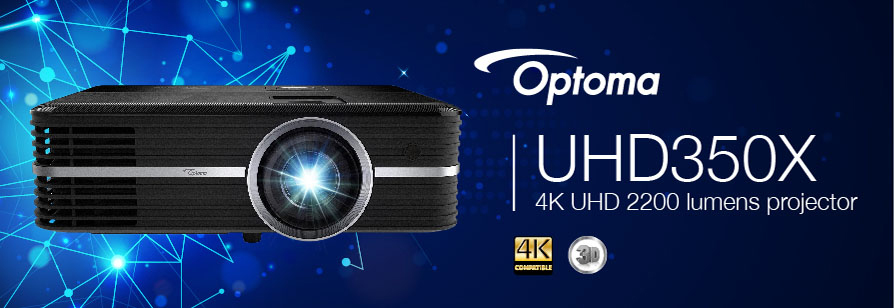 Banner for Optoma UHD350X Projector - 4K UHD 2200 Lumens Home Cinema Projector