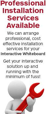 interactive whiteboard installation