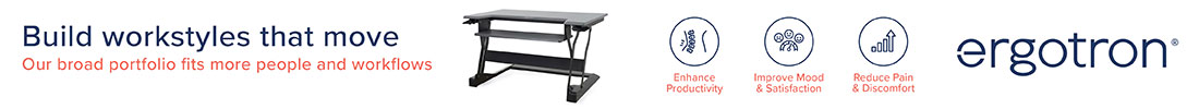 Browse Our Range of Ergotron Sit-Stand Workstations and Desk Converters