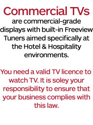Commercial TVs require valid TV licences