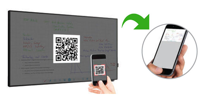 Sharing files from mobile to touchscreen