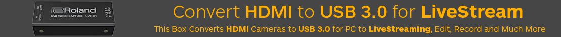 Convert HDMI Cameras to USB for livestreaming